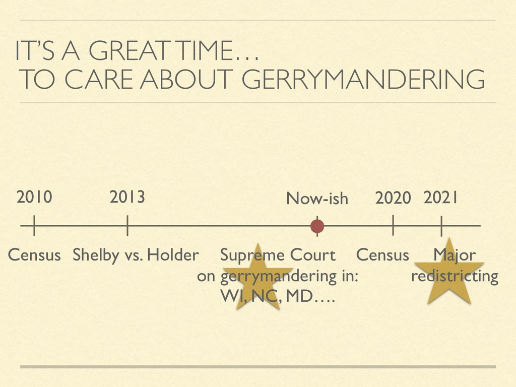IT'S A GREAT TIME… TO CARE ABOUT GERRYMANDERING...
