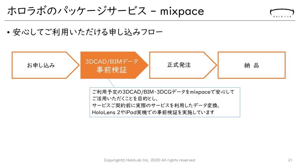 ホロラボのパッケージサービス - mixpace • 安心してご利用いただける申し込みフロー ...