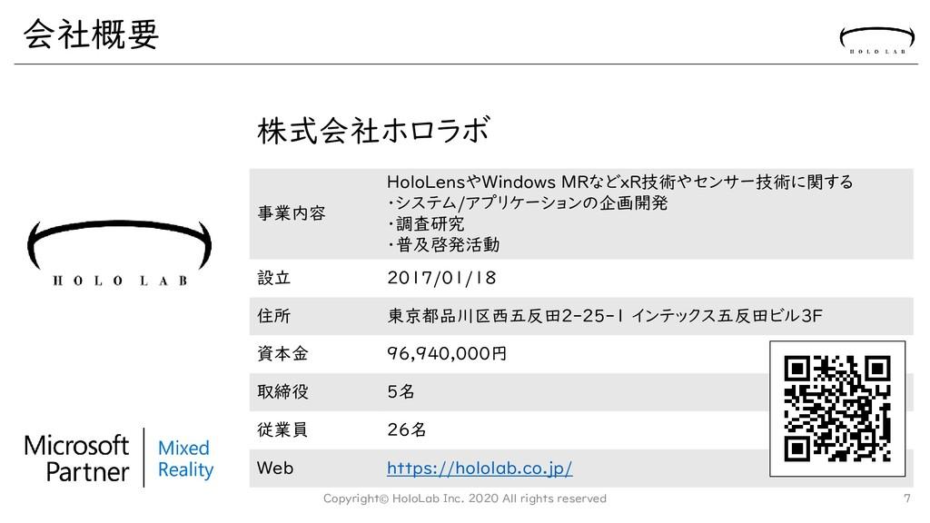 株式会社ホロラボ 事業内容 HoloLensやWindows MRなどxR技術やセンサー技術に...