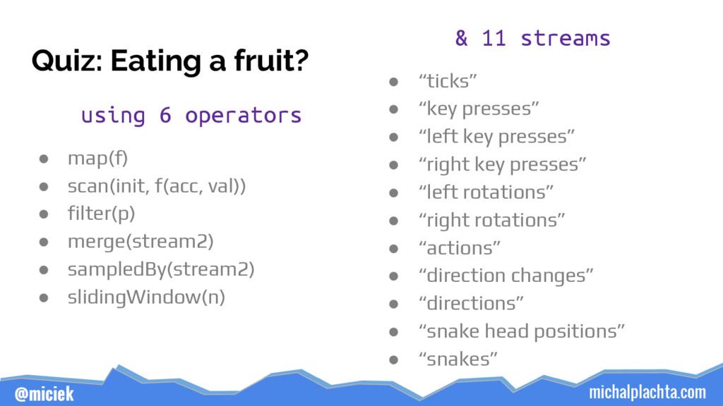 michalplachta.com @miciek Quiz: Eating a fruit?...