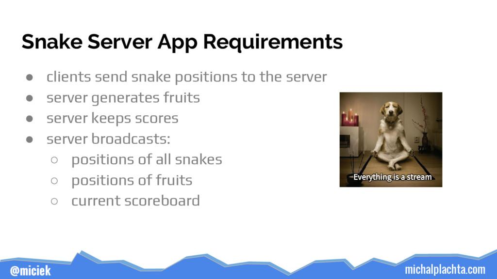 michalplachta.com @miciek Snake Server App Requ...