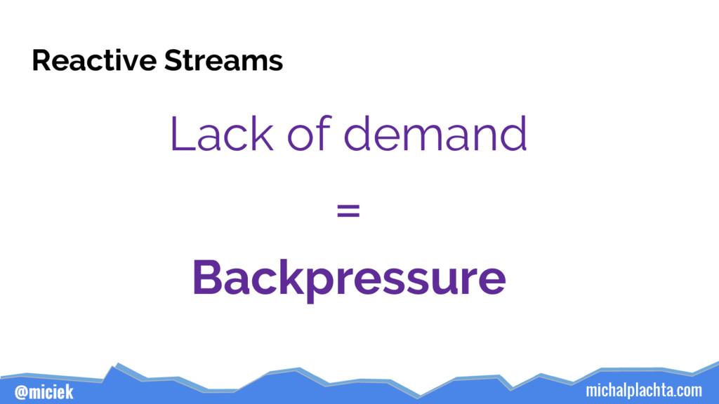 michalplachta.com @miciek Reactive Streams Lack...