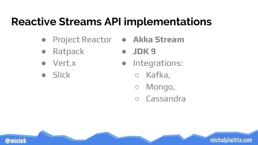 michalplachta.com @miciek Reactive Streams API ...