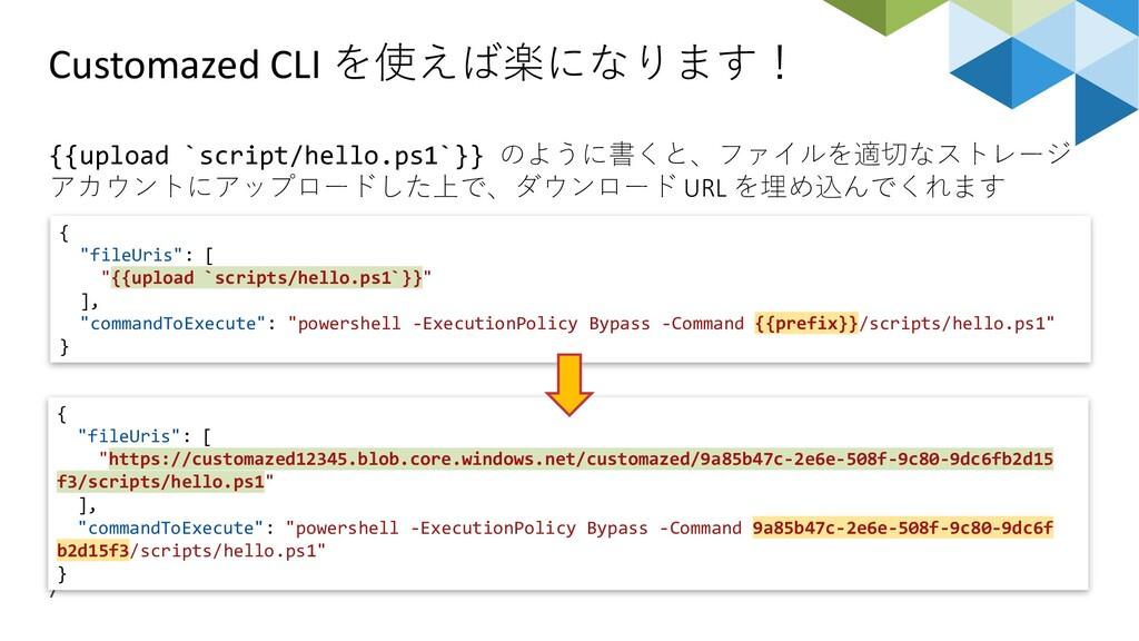 Customazed CLI を使えば楽になります! 7 {{upload `script/h...