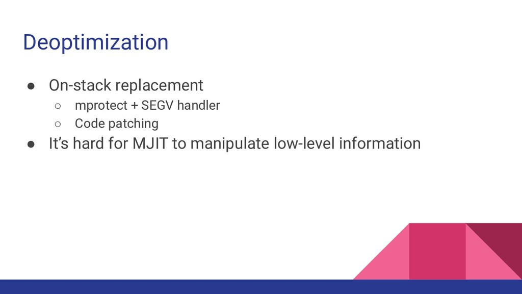 Deoptimization ● On-stack replacement ○ mprotec...