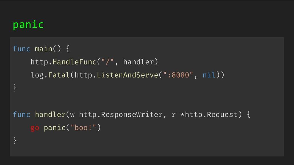 "func main() { http.HandleFunc(""/"", handler) log..."