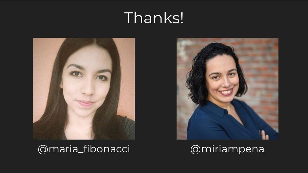 Thanks! @maria_fibonacci @miriampena
