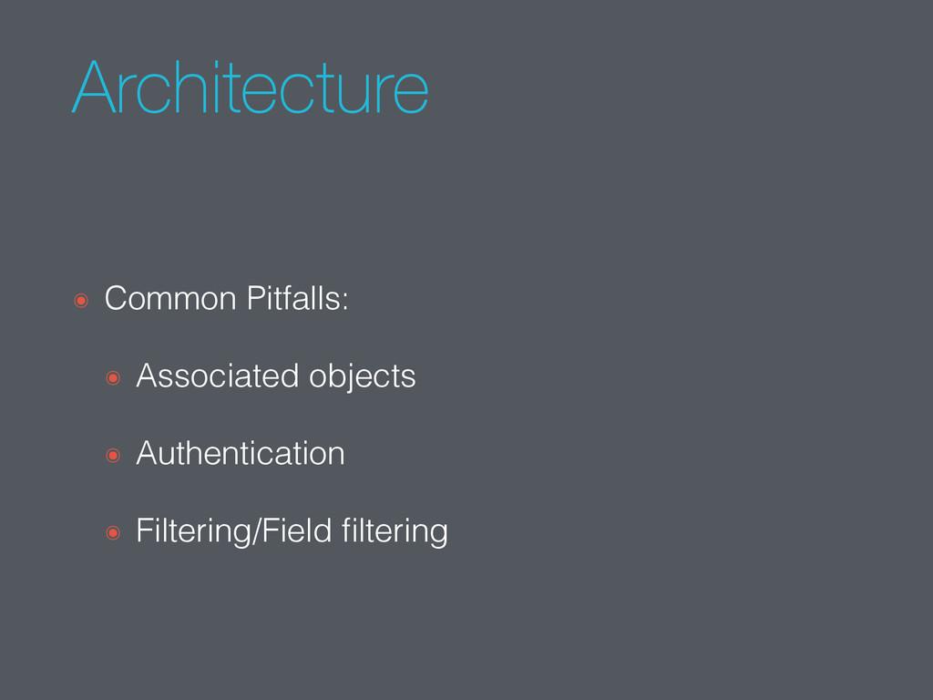 Architecture ๏ Common Pitfalls: ๏ Associated ob...