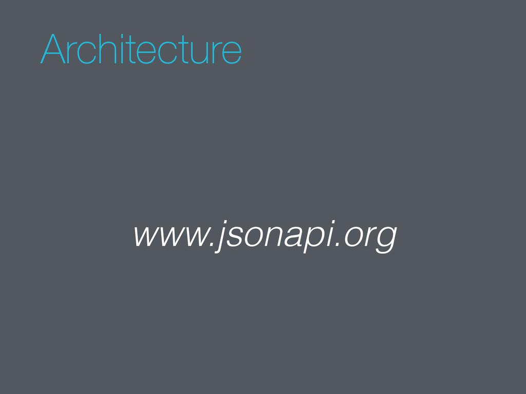 Architecture www.jsonapi.org