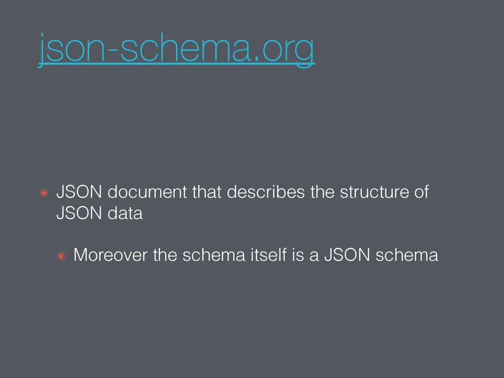 json-schema.org ๏ JSON document that describes ...