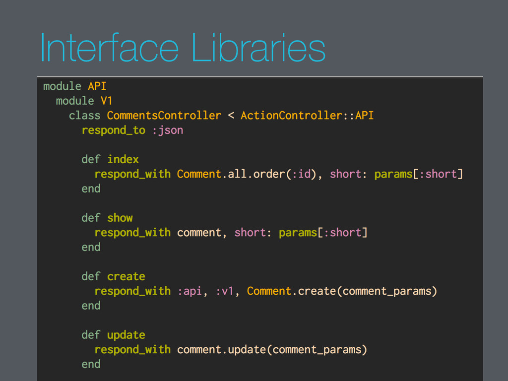 Interface Libraries