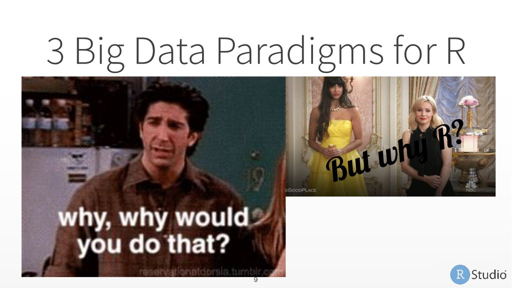 3 Big Data Paradigms for R 1. Sample and Model ...