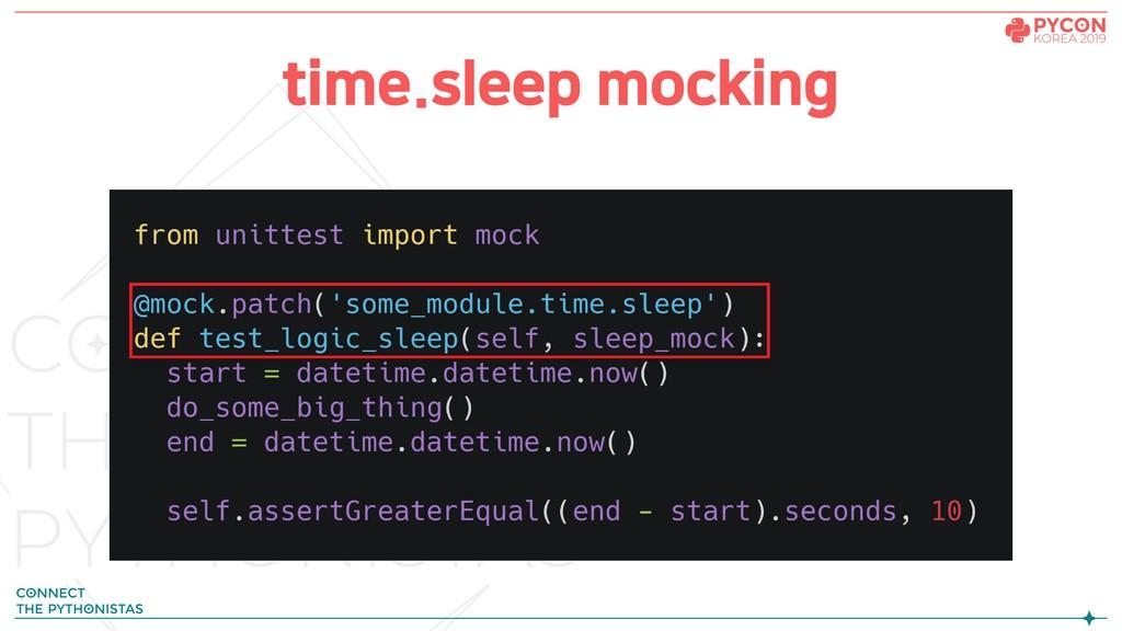 time.sleep mocking