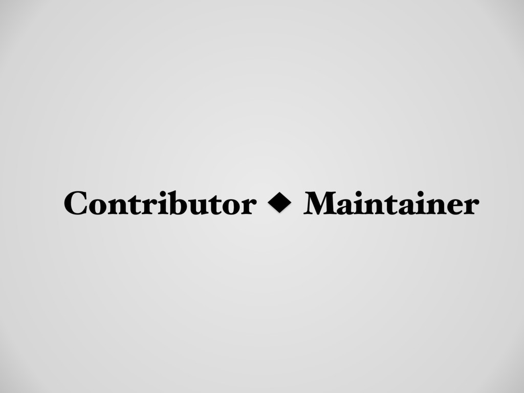 Contributor Maintainer