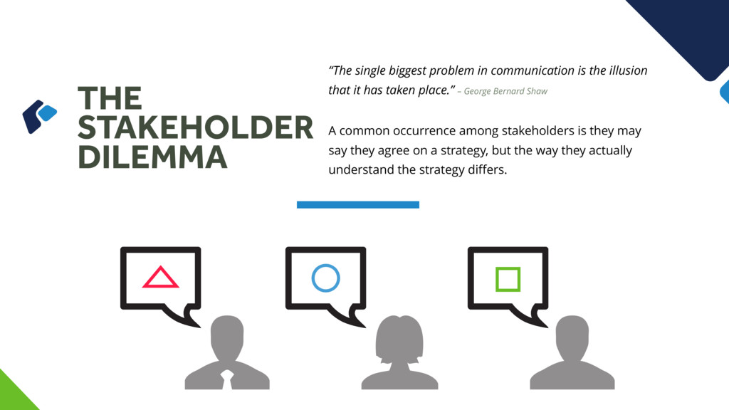 """THE STAKEHOLDER DILEMMA """"The single biggest pro..."""