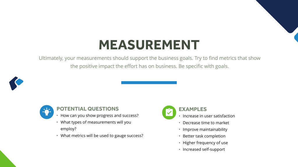 Ultimately, your measurements should support th...
