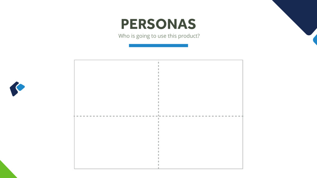 Who is going to use this product? PERSONAS
