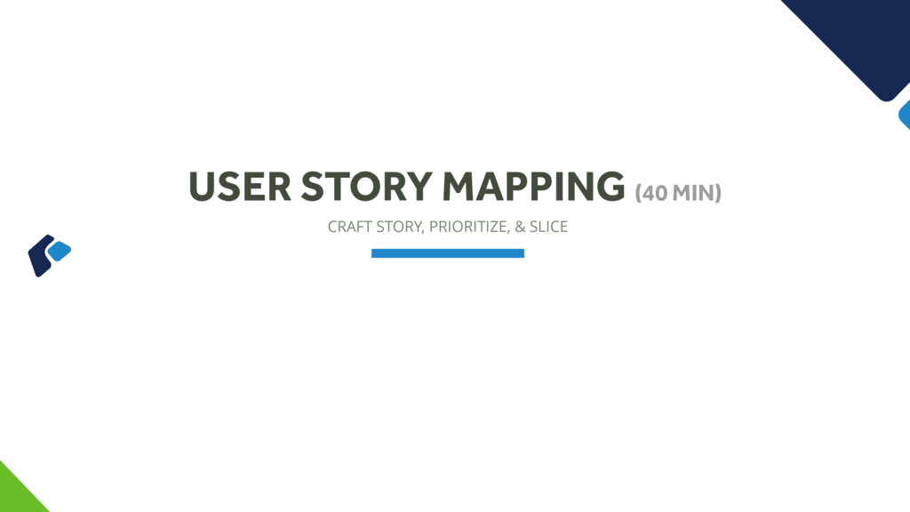 CRAFT STORY, PRIORITIZE, & SLICE USER STORY MAP...