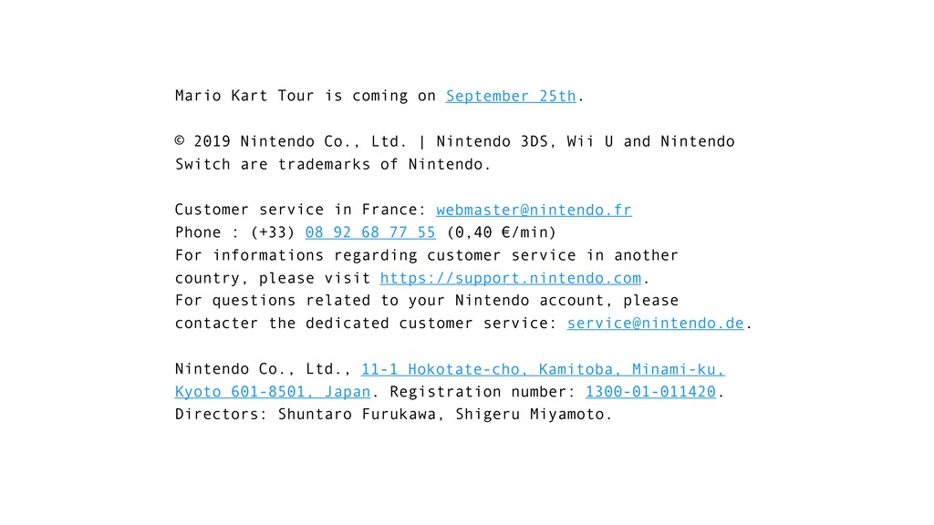 Mario Kart Tour is coming on September 25th. © ...