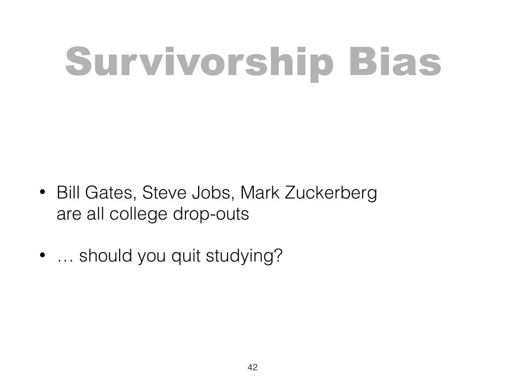 Survivorship Bias • Bill Gates, Steve Jobs, Mar...