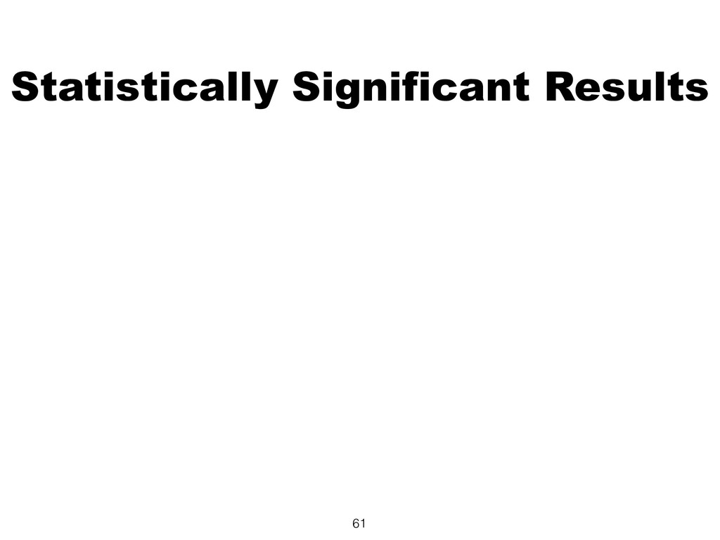 Statistically Significant Results 61