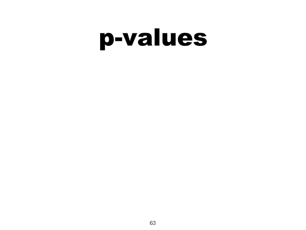 p-values 63
