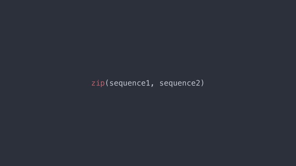 zip(sequence1, sequence2)