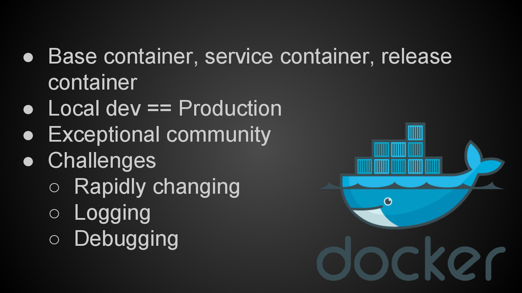 ● Base container, service container, release co...
