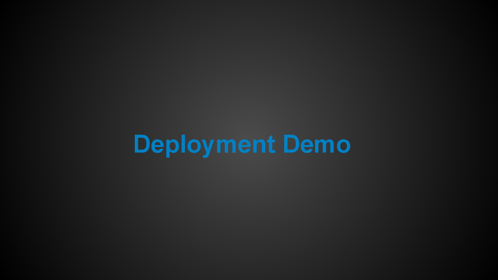 Deployment Demo