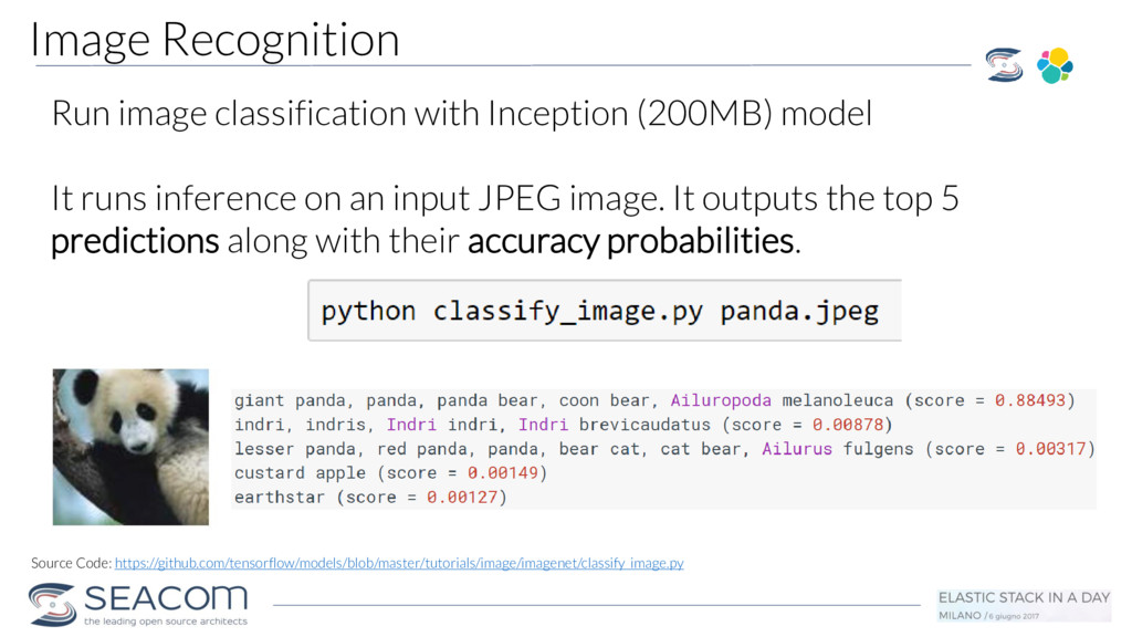 Run image classification with Inception (200MB)...