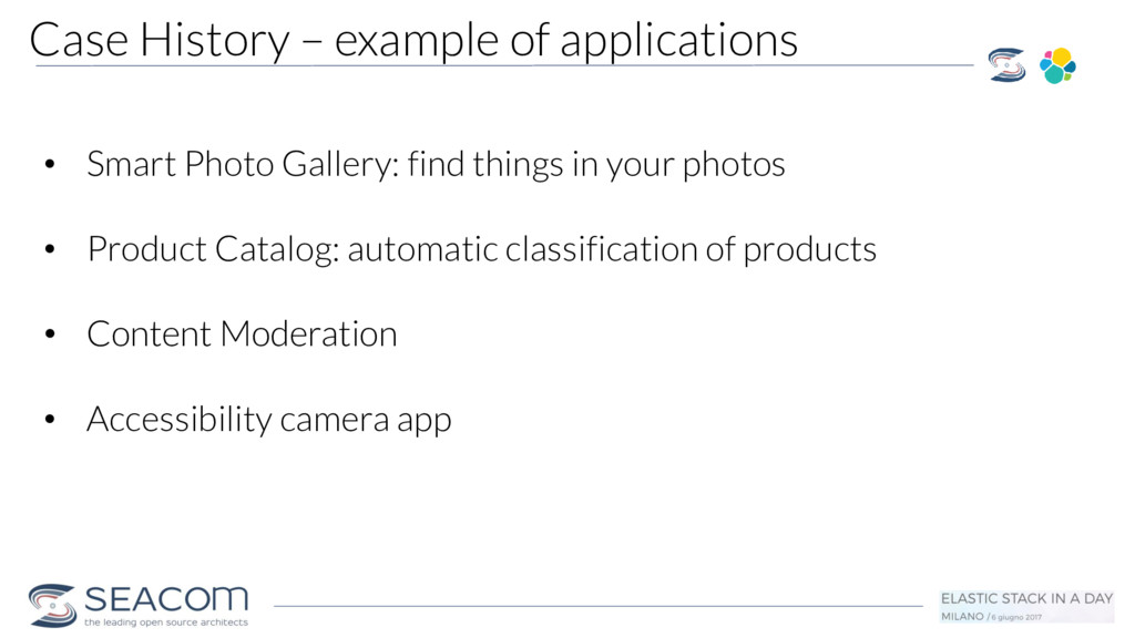 Case History – example of applications • Smart ...