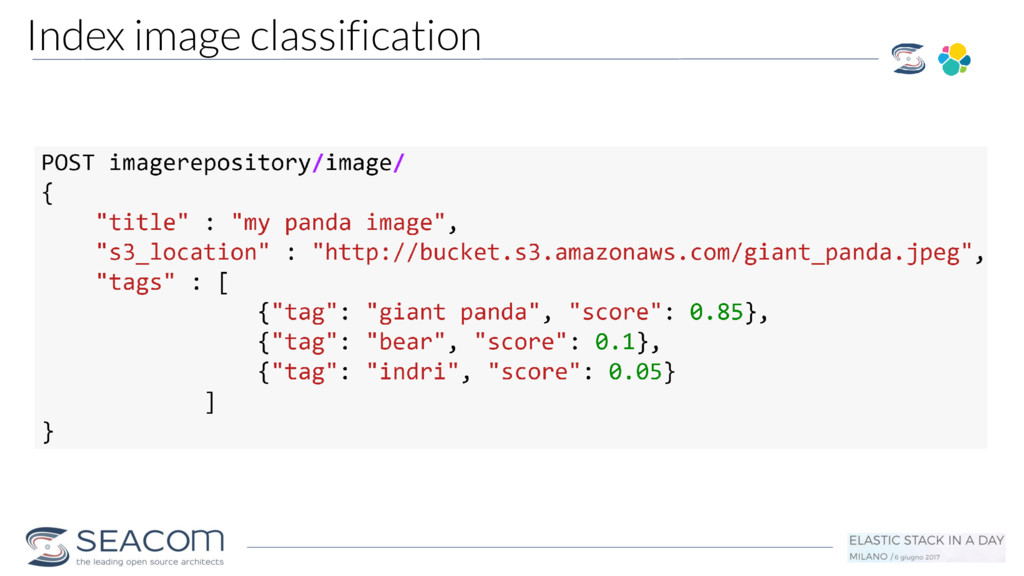 Index image classification