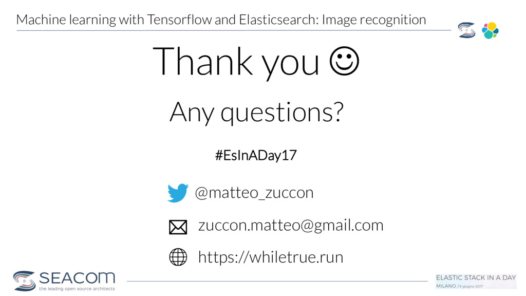 Machine learning with Tensorflow and Elasticsea...