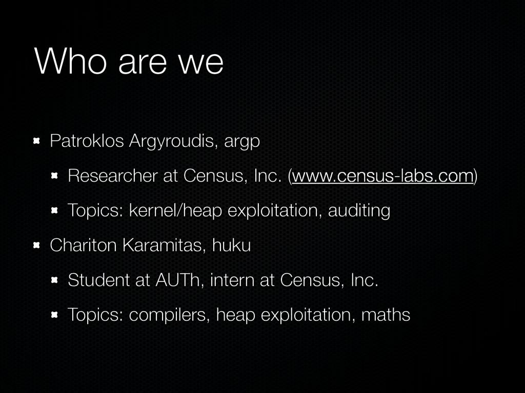 Who are we Patroklos Argyroudis, argp Researche...