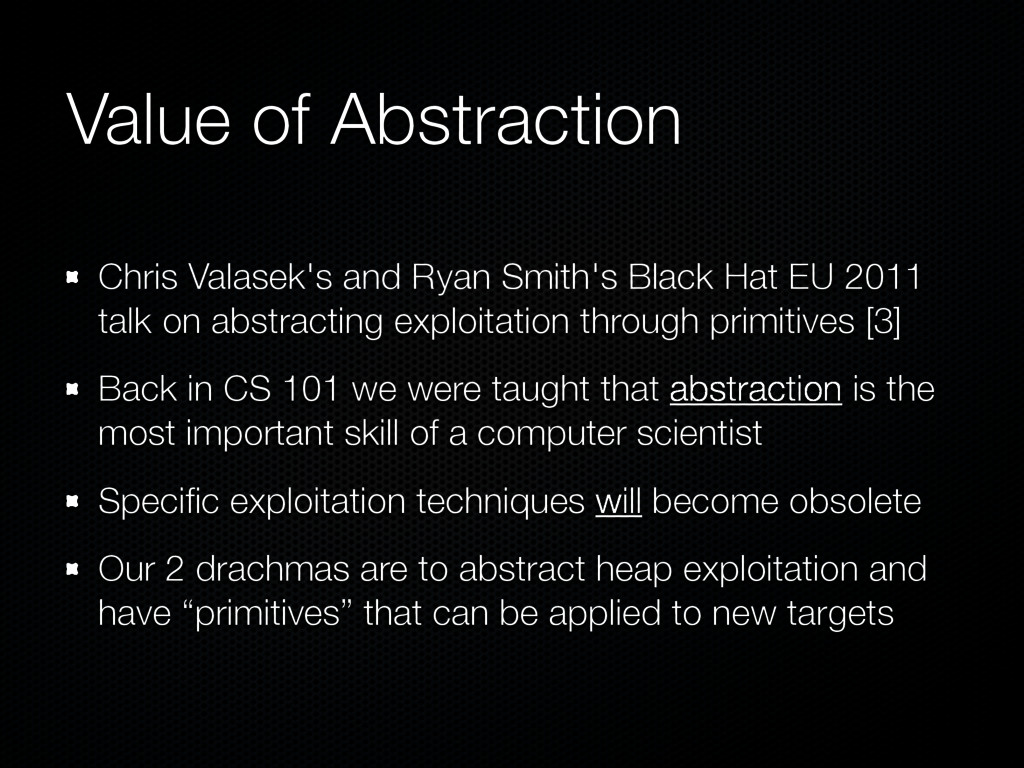 Value of Abstraction Chris Valasek's and Ryan S...