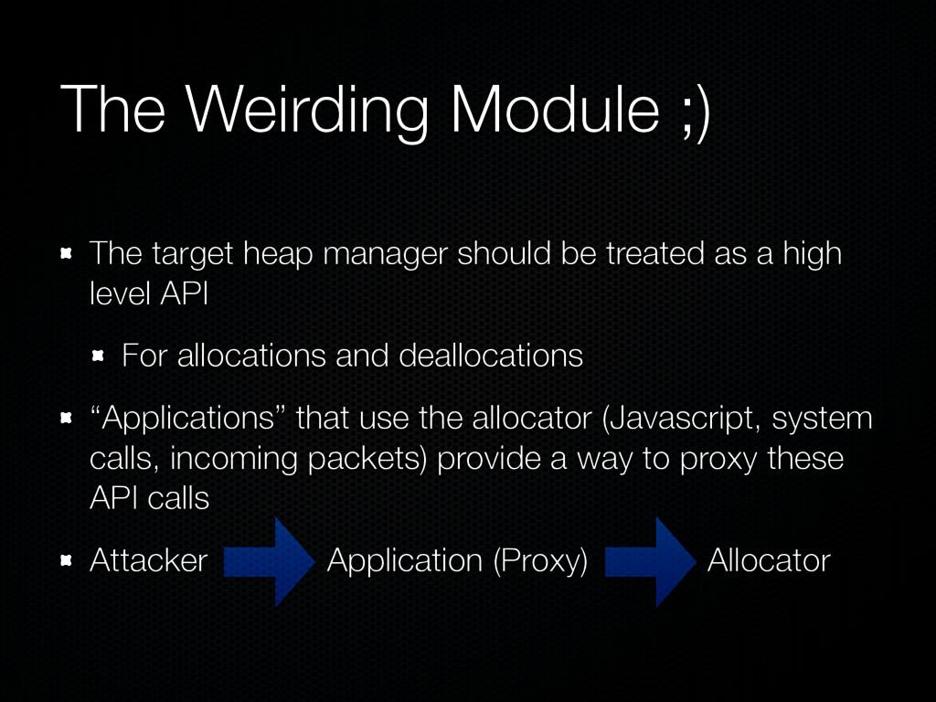 The Weirding Module ;) The target heap manager ...