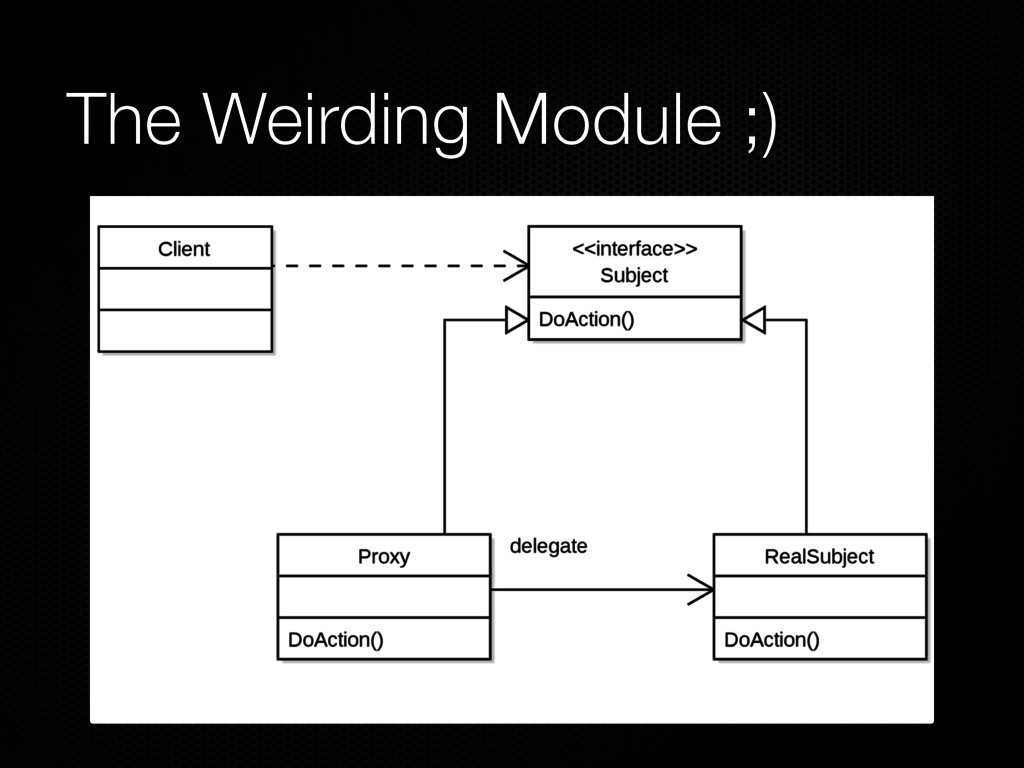 The Weirding Module ;)