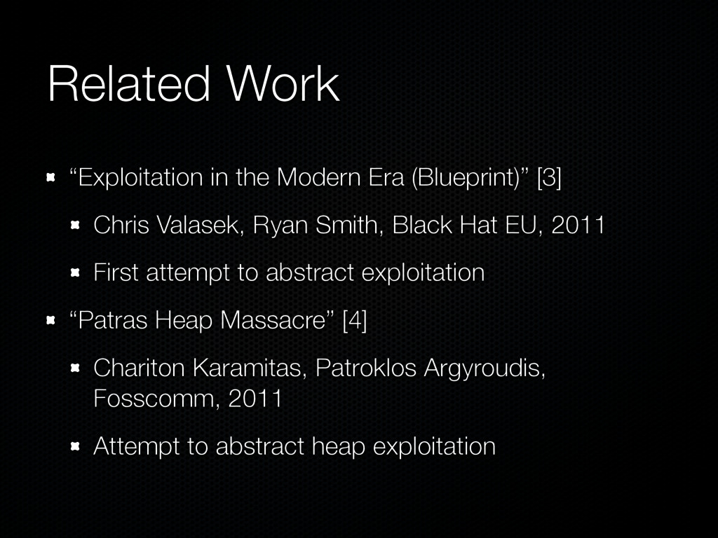 "Related Work ""Exploitation in the Modern Era (B..."