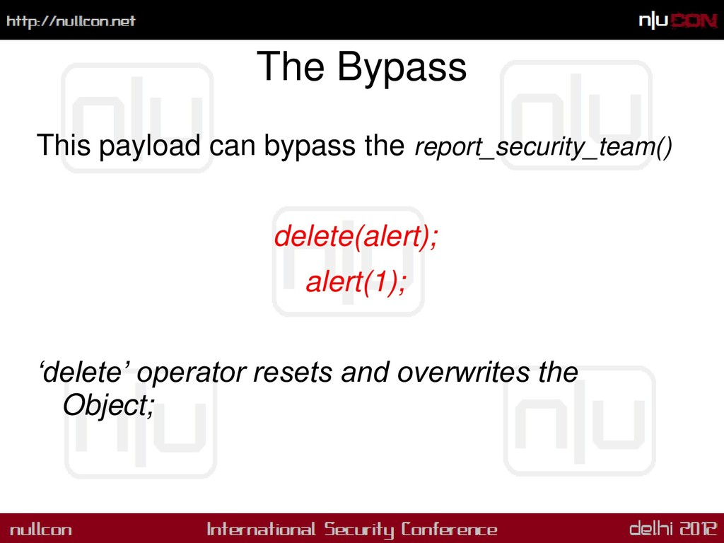 The Bypass This payload can bypass the report_s...