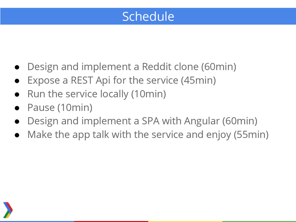 Schedule ● Design and implement a Reddit clone ...