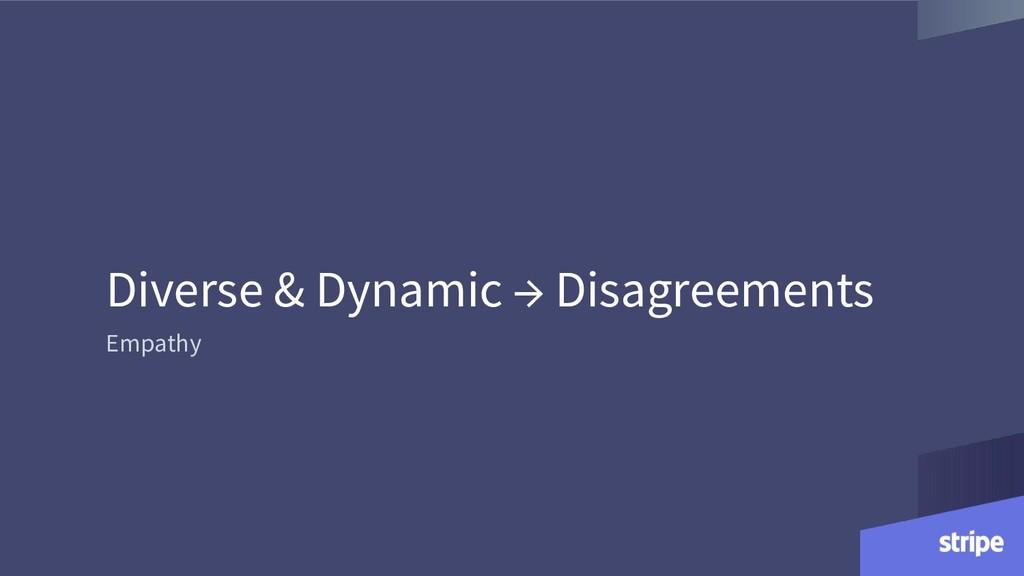 Diverse & Dynamic → Disagreements Empathy