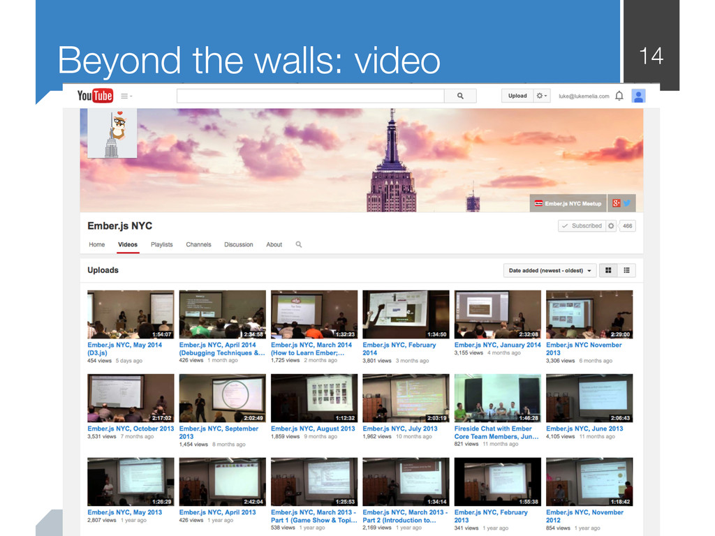 14 Beyond the walls: video