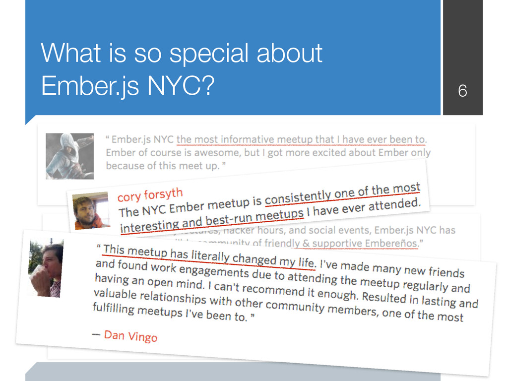 What is so special about Ember.js NYC? 6