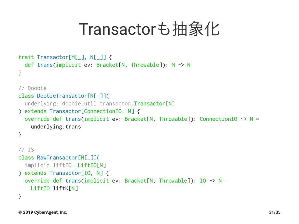 TransactorநԽ trait Transactor[M[_], N[_]] { d...