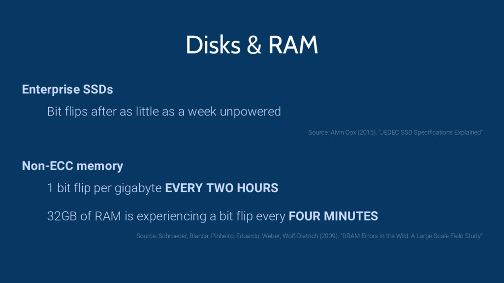 Disks & RAM Enterprise SSDs Bit flips after as ...