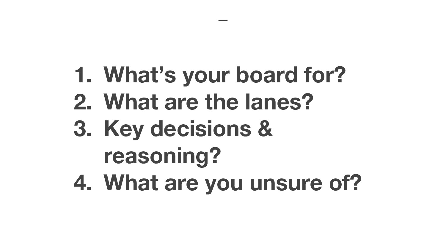 1. What's your board for? 2. What are the lanes...