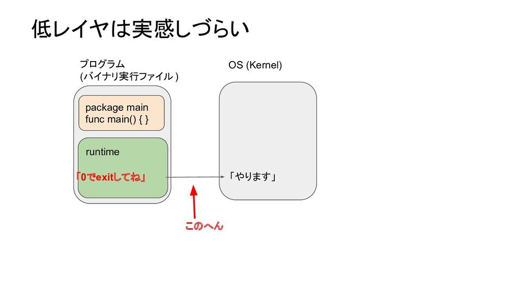 低レイヤは実感しづらい OS (Kernel) runtime 「0でexitしてね」 pac...