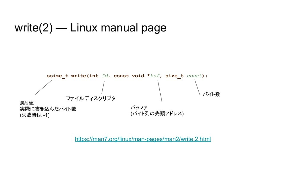ssize_t write(int fd, const void *buf, size_t c...