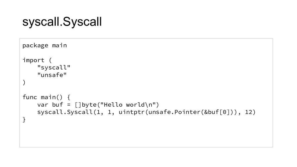 """package main import ( """"syscall"""" """"unsafe"""" ) func..."""