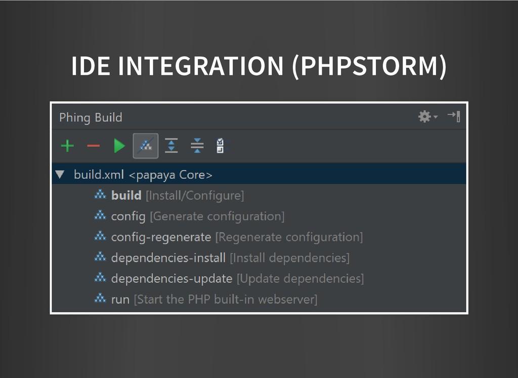 IDE INTEGRATION (PHPSTORM) IDE INTEGRATION (PHP...
